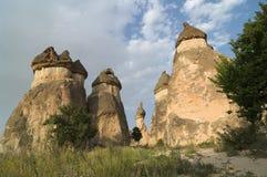 Rockbildande Pasabagi Cappadocia, Turkiet Royaltyfria Foton