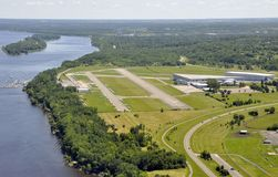 Rockcliff airport aerial Royalty Free Stock Photography