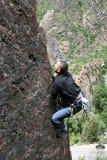Rockclimber royalty-vrije stock foto