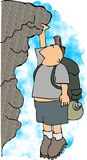 rockclimber vektor illustrationer