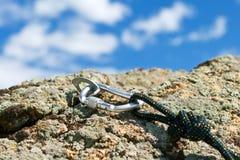 rockclimbing шестерни Стоковое Изображение RF
