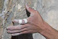 Rockclimbing hand Stock Photos