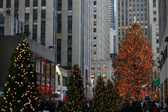Rockefeller center. At Christmas time Stock Image