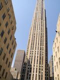 Rockefeller Center. This is a shot of the GE Building, formally the RCA building at Rockefeller Center in New York City stock images
