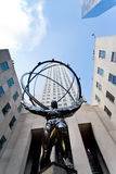 Rockefeller Center and Atlas statue in New York Stock Photos