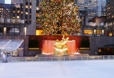 Rockefeller Center At Christmas Royalty Free Stock Images
