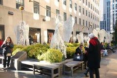 Rockefeller Center at Christmastime Stock Image