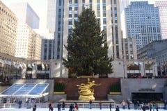 Rockefeller Center at Christmastime Stock Photos