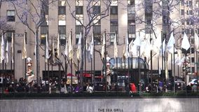 Rockefeller Center at Christmastime stock footage