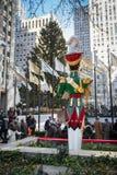 Rockefeller Center Christmastime Stock Images