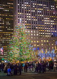 Rockefeller Center Crowd Stock Images