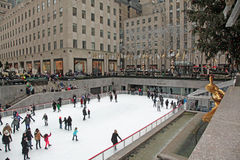 Rockefeller Center Ice Skating Rink Royalty Free Stock Images