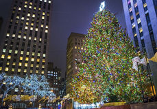 Rockefeller Center Lights 2013 Stock Photos