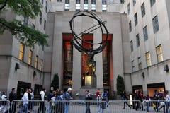 Rockefeller Center in Manhattan New York stock photo