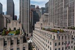 Rockefeller Center in midtown Manhattan New York City royalty free stock photography