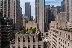 Rockefeller Center in midtown Manhattan New York City royalty free stock images
