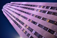Rockefeller Center at night Stock Image