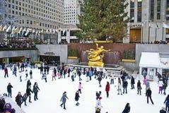 Rockefeller Center Rink Royalty Free Stock Photos