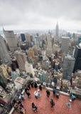 Rockefeller Center Top of the Rock observation deck Stock Image