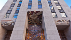 Rockefeller Center Wisdom, Light and Sound Royalty Free Stock Images
