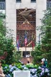 Rockefeller Center Wisdom, Light and Sound Stock Image