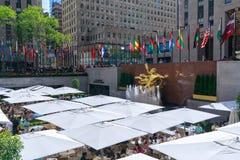Rockefeller centrent, un complexe des bâtiments d'Art Deco de point de repère à New York City Photo stock