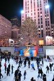 Rockefeller Centrum łyżwiarstwa lodowisko obraz royalty free