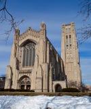 Rockefeller Chapel in Snow Stock Photography