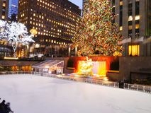 Rockefeller Christmas Tree, New York Royalty Free Stock Photos