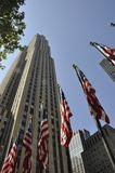 New York City, 2nd July: Rockefeller ComCast building in Manhattan from New York City in United States royalty free stock photography