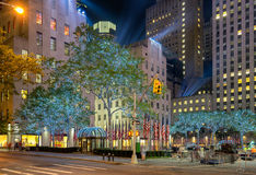 Rockefeller Complex in New York. New York, USA on 3rd Sept 2015. Rockefeller complex near  Times Square is a major commercial intersection and neighborhood in Royalty Free Stock Images