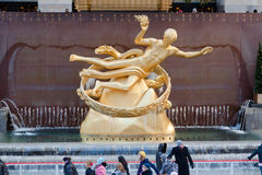 Rockefeller Ice Skate Ring New York City Royalty Free Stock Images