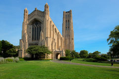 Rockefeller Memorial Chapel. On University of Chicago Campus Under Morning Sunlight Royalty Free Stock Photography