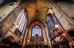 Rockefeller Memorial Chapel. Interior Stock Photo