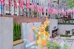 Rockefeller mitt, New York Arkivfoto