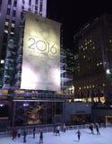 Rockefeller-Mitte-Weihnachtsbaum vor der Baum-Beleuchtung Stockfotos