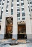 Rockefeller New York City de centro Foto de archivo libre de regalías