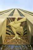 Rockefeller NYC concentrare Fotografie Stock Libere da Diritti