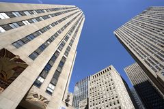 Rockefeller-Piazzawolkenkratzer Lizenzfreie Stockfotos