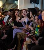 Christian Siriano FW19 Runway Show as part of NYFW royalty free stock photography