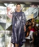 Christian Siriano FW19 Runway Show as part of NYFW stock images