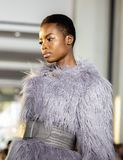 Christian Siriano FW19 Runway Show as part of NYFW stock photography