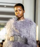 Christian Siriano FW19 Runway Show as part of NYFW stock image