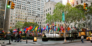 Rockefeller Plaza, Manhattan, NYC Royalty Free Stock Photo