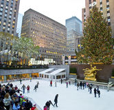 Rockefeller Rink and Tree 2012 Royalty Free Stock Image