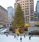 Rockefeller Rink and Tree 2012 Royalty Free Stock Photos