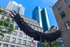 Rockefeller Ześrodkowywa, kompleks punktu zwrotnego art deco budynki w Miasto Nowy Jork fotografia stock