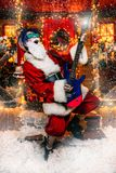 Rocker Άγιος Βασίλης στοκ φωτογραφίες με δικαίωμα ελεύθερης χρήσης