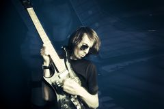 Rocker και κιθάρα στοκ φωτογραφίες με δικαίωμα ελεύθερης χρήσης