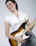 rocker κιθάρων κοριτσιών Στοκ Εικόνα